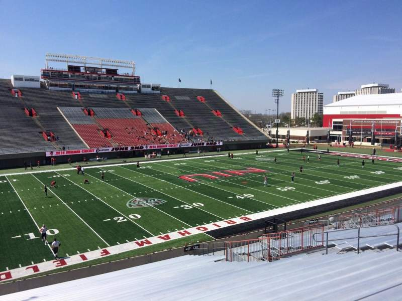 Seating view for Huskie Stadium Section P Row 26 Seat 14