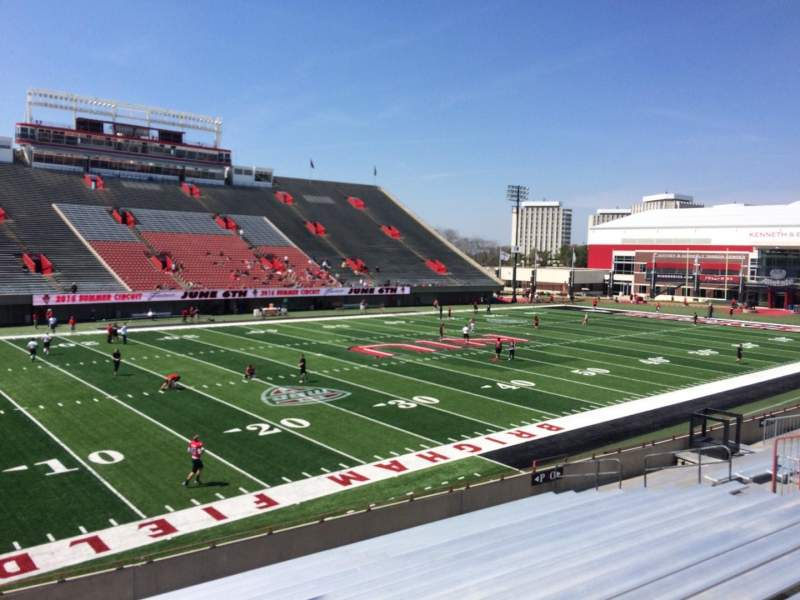 Seating view for Huskie Stadium Section P Row 18 Seat 1
