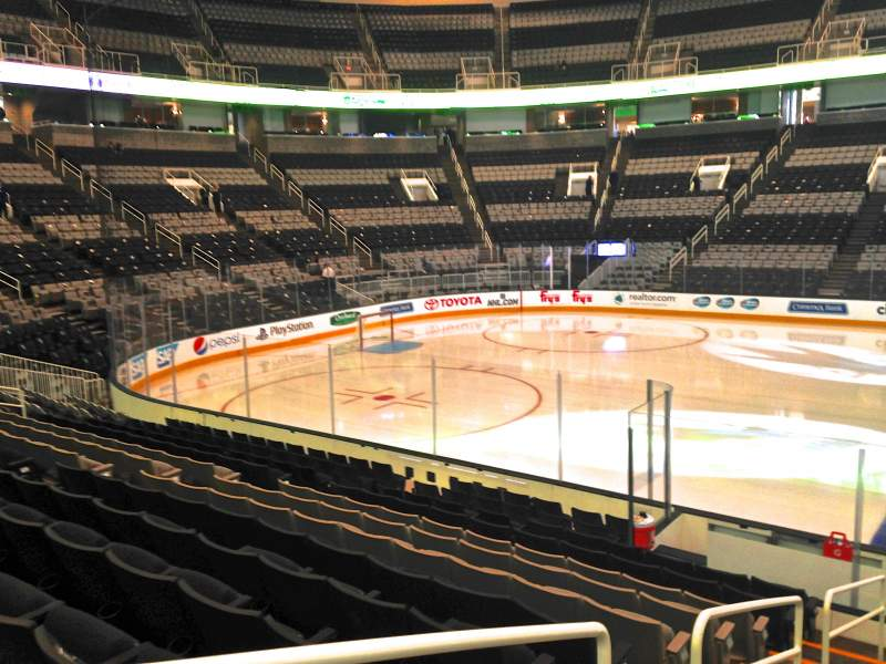 Seating view for SAP Center at San Jose Section 101 Row 13 Seat 01