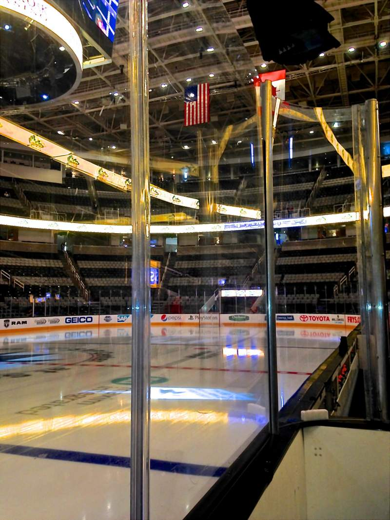 Seating view for SAP Center at San Jose Section 102 Row 1 Seat 10