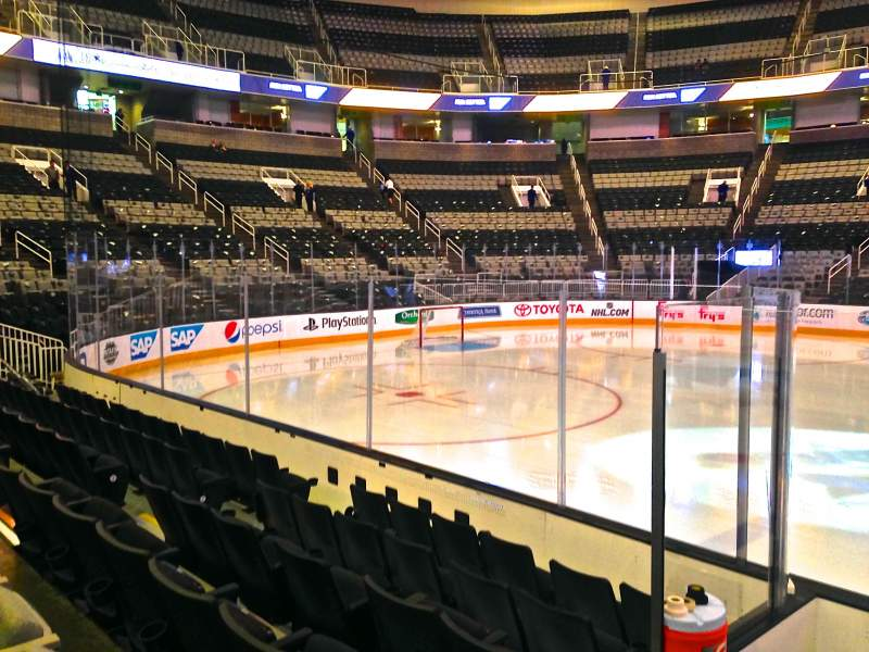 Seating view for SAP Center at San Jose Section 102 Row 06 Seat 05