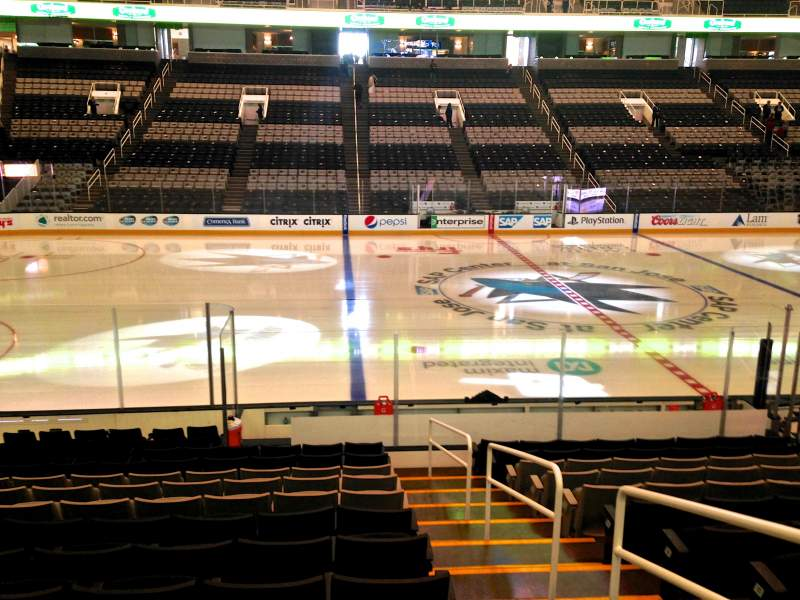 Seating view for SAP Center at San Jose Section 102 Row 14 Seat 01