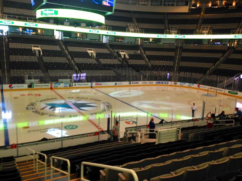 Seating view for SAP Center at San Jose Section 102 Row 18 Seat 04