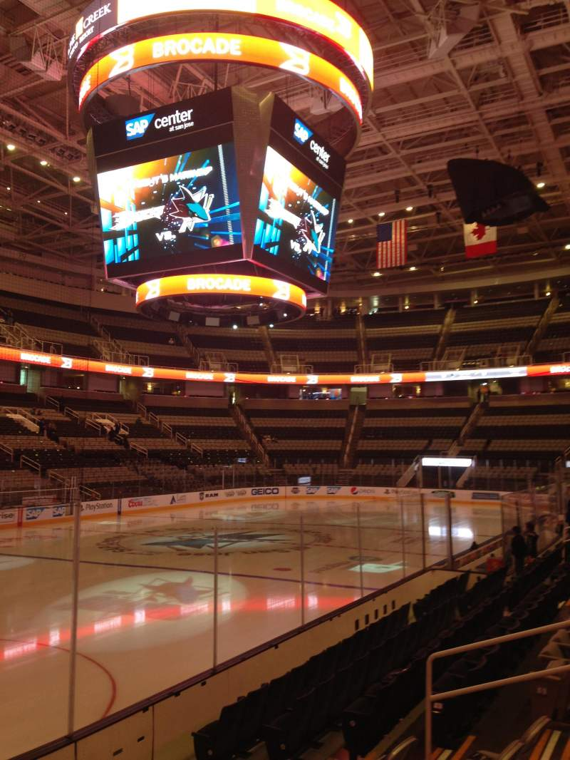 Seating view for SAP Center at San Jose Section 104 Row 06 Seat 14