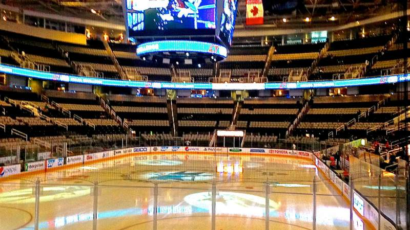 Seating view for SAP Center at San Jose Section 107 Row 10 Seat 01