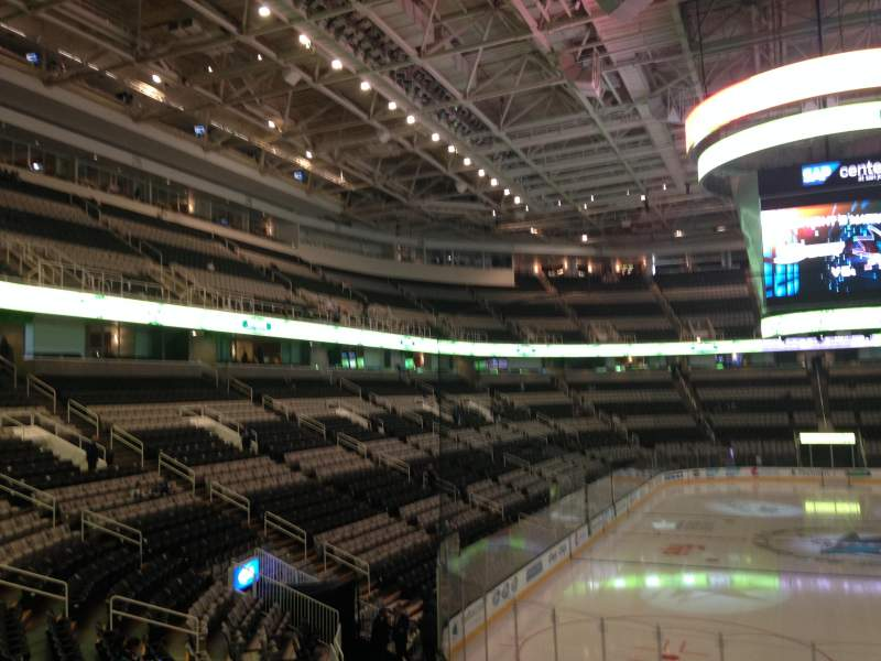 Seating view for SAP Center at San Jose Section 109 Row 19 Seat 04