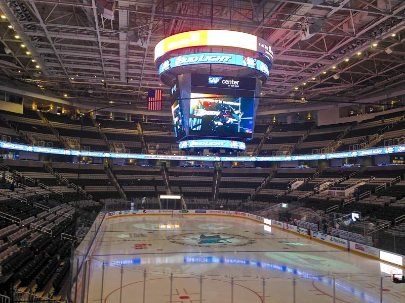 Seating view for SAP Center at San Jose Section 109 Row 19 Seat 16