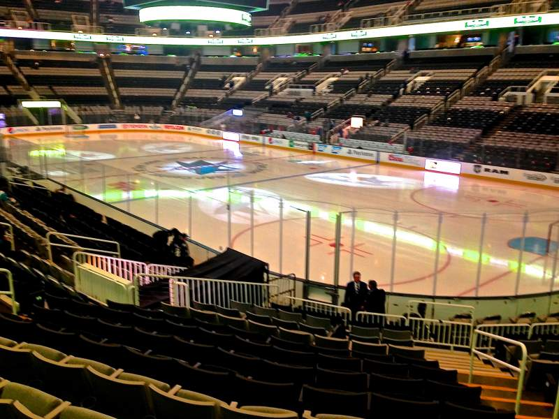 Seating view for SAP Center at San Jose Section 112 Row 16 Seat 03