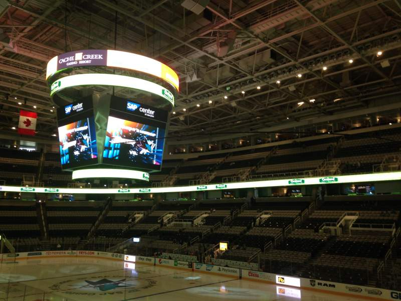 Seating view for SAP Center Section 112 Row 16 Seat 03