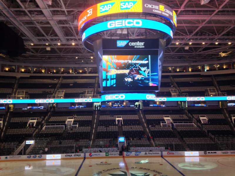 Seating view for SAP Center at San Jose Section 115 Row 16 Seat 17