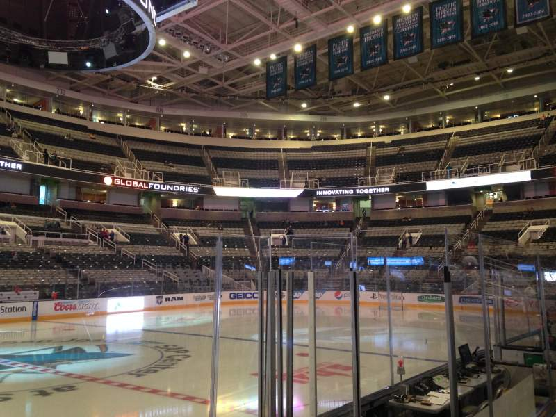 Seating view for SAP Center at San Jose Section 116 Row 04 Seat 01