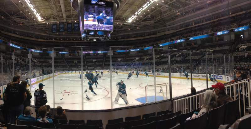 Seating view for SAP Center at San Jose Section 123 Row 06 Seat 09