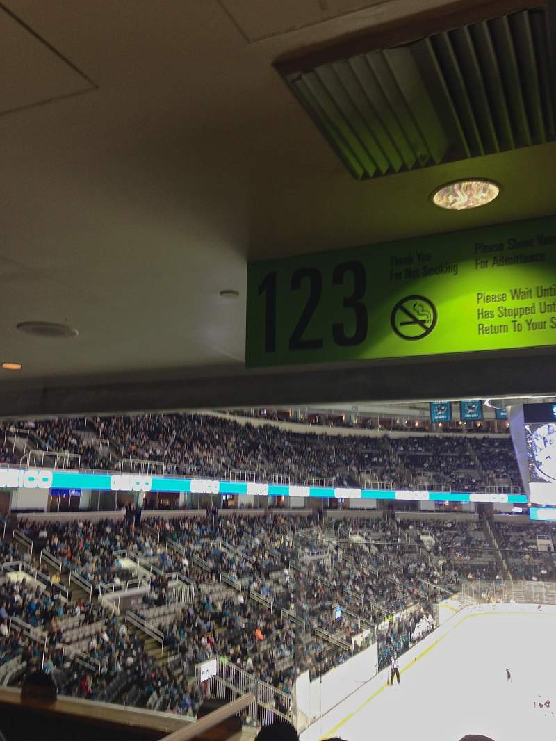 Seating view for SAP Center at San Jose Section 123