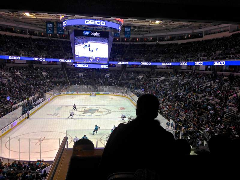 Seating view for SAP Center at San Jose Section 121