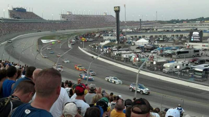 Seating view for Kentucky Speedway Section Gs1 Row 13 Seat 25