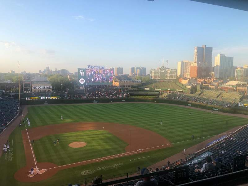 Seating view for Wrigley Field Section 421R Row 1 Seat 13