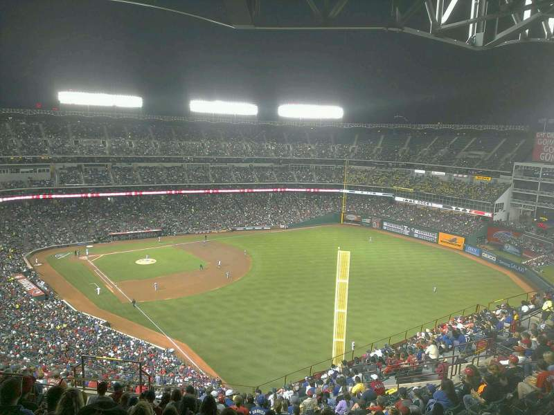 Seating view for Globe Life Park in Arlington Section 343 Row 23 Seat 9