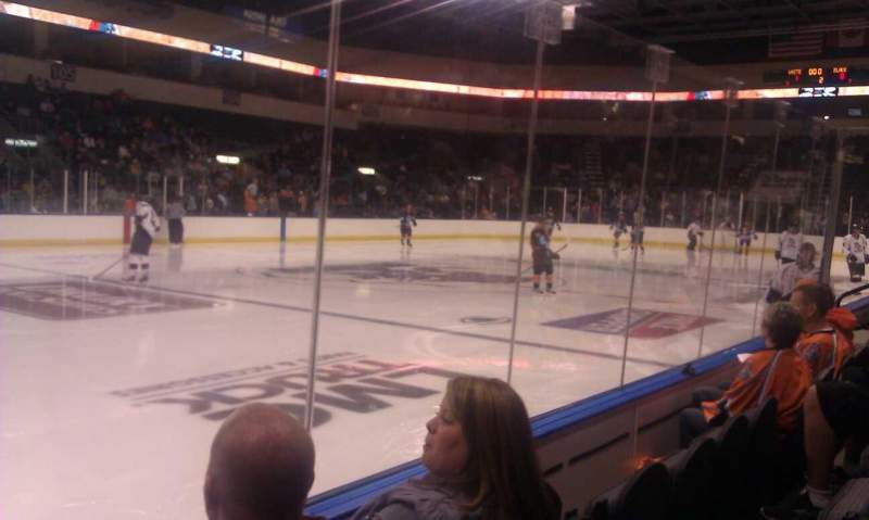 Seating view for Silverstein Eye Centers Arena Section 114 Row 3 Seat 15