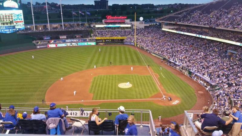 Seating view for Kauffman Stadium Section 412 Row BB Seat 19