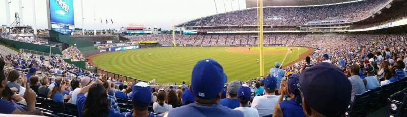 Seating view for Kauffman Stadium Section 206 Row NN Seat 12