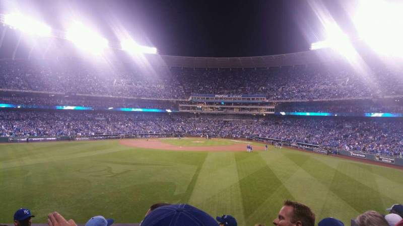 Seating view for Kauffman Stadium Section 201 Row F Seat 12