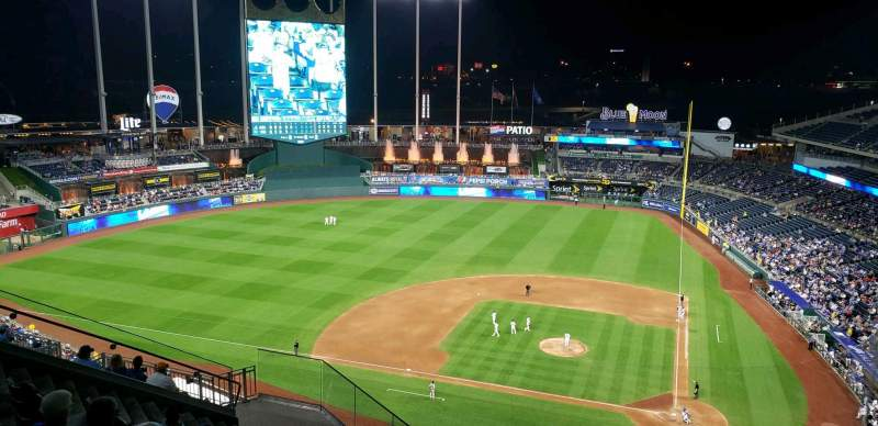 Seating view for Kauffman Stadium Section 413 Row FF Seat 21