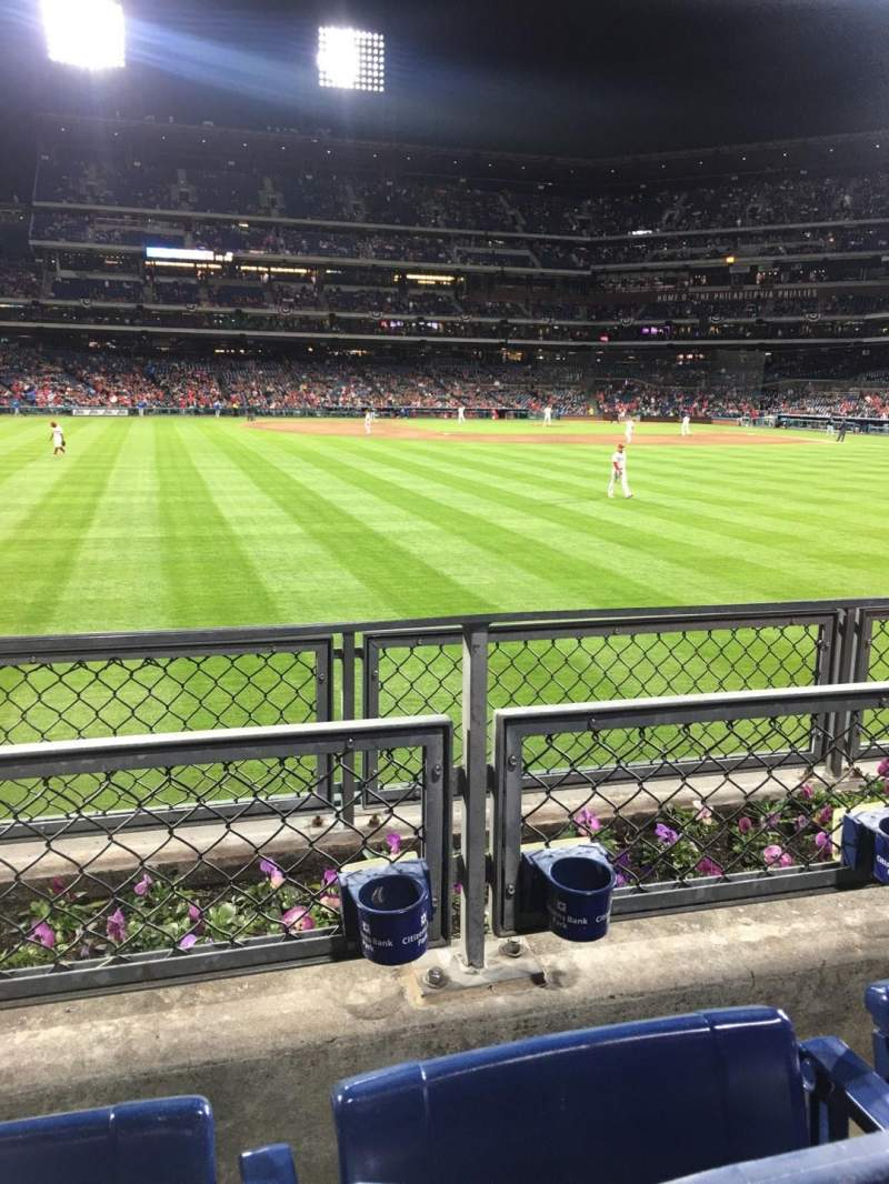 Seating view for Citizens Bank Park Section 145 Row 2 Seat 14