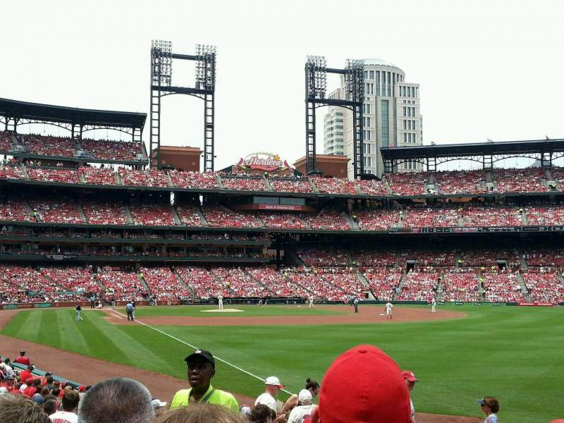 Seating view for Busch Stadium Section 131 Row 7 Seat 3