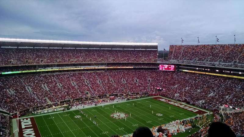 Seating view for Bryant-Denny Stadium Section U4-DD Row 25 Seat 4