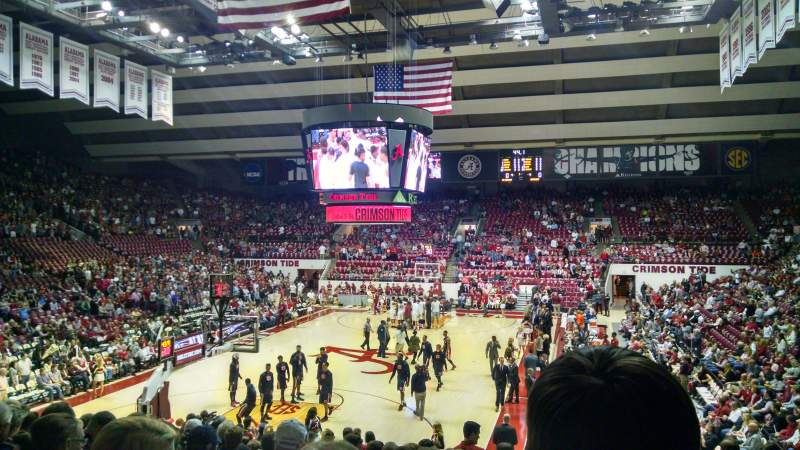 Seating view for Coleman Coliseum Section J Row 21 Seat 2