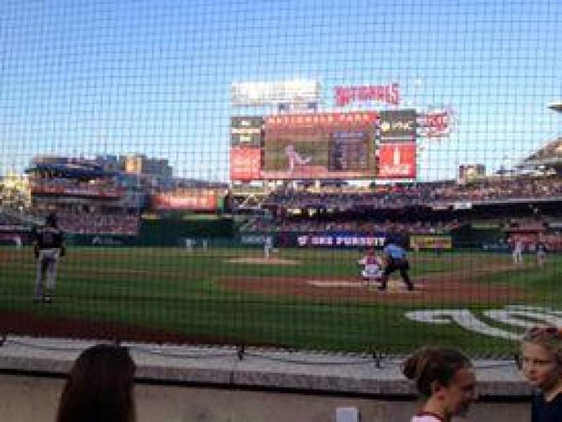 Seating view for Nationals Park Section Delta Sky360 Club B Row B Seat 4