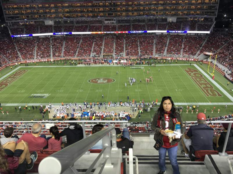 Seating view for Levi's Stadium Section 411 Row 6A Seat 4