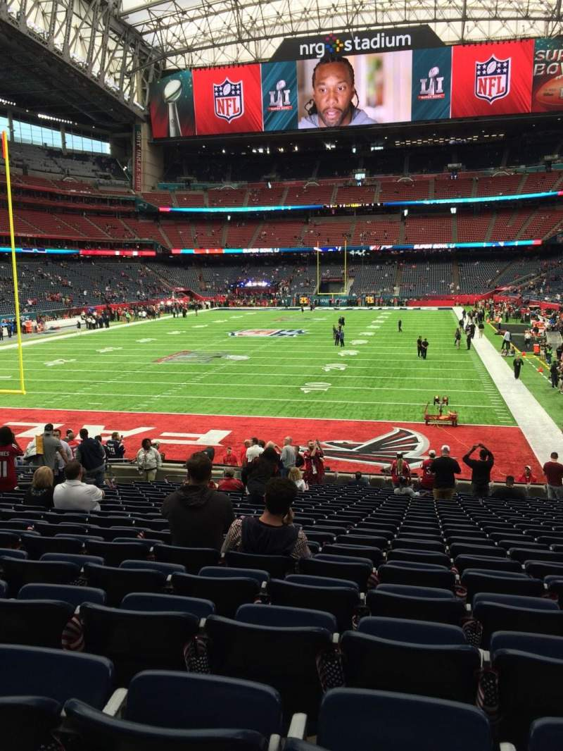 Seating view for NRG Stadium Section 135 Row X Seat 12