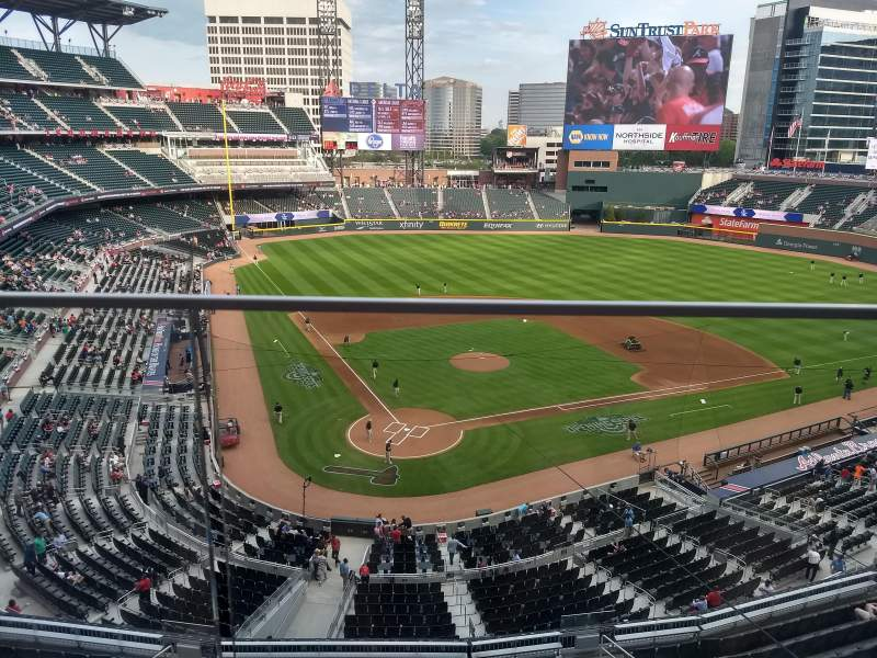 Seating view for Truist Park Section 324 Row 1 Seat 19