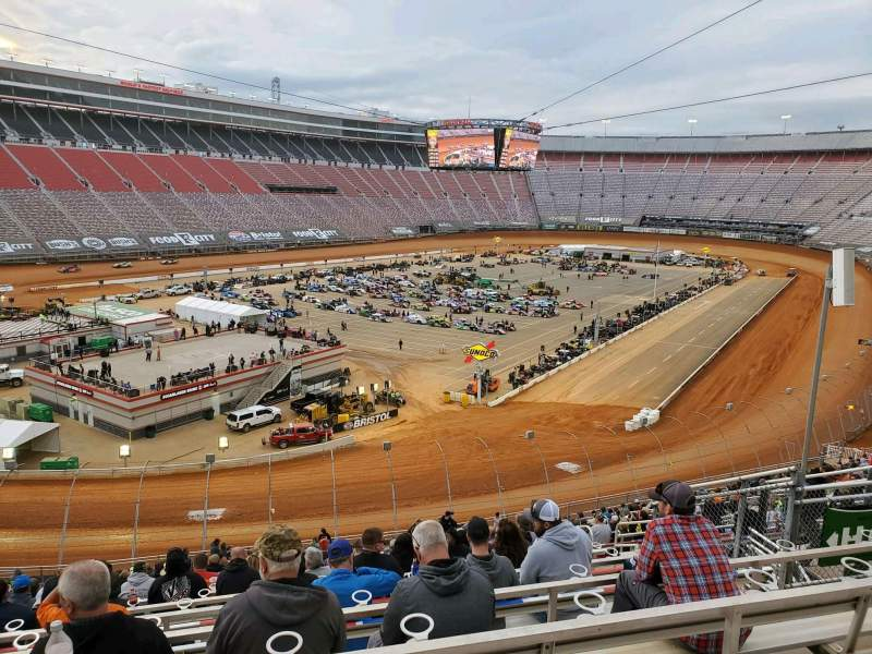Seating view for Bristol Motor Speedway Section Waltrip H Row 36 Seat 9