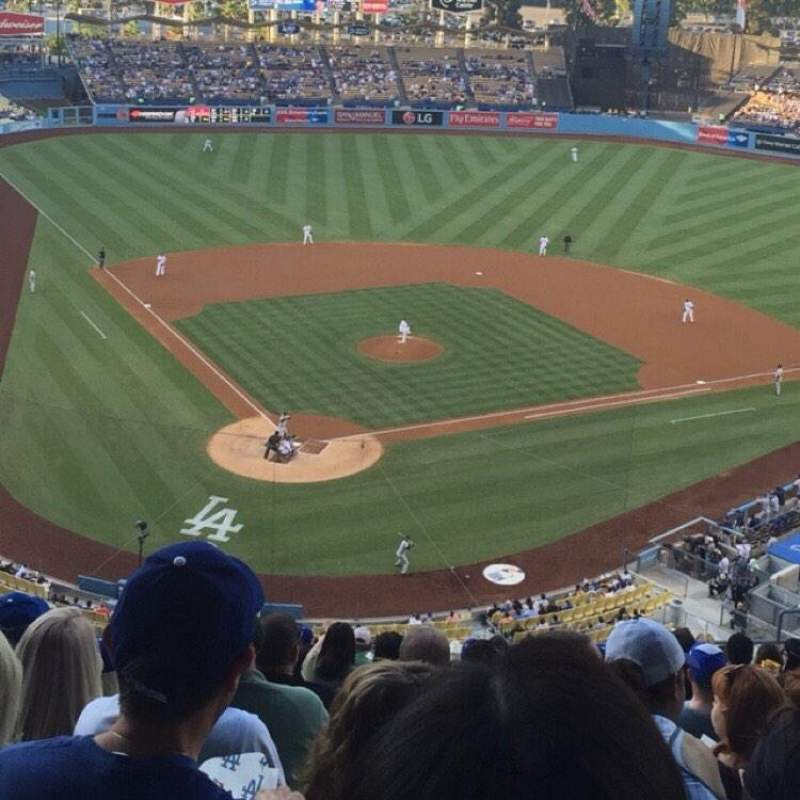 Seating view for Dodger Stadium Section RS4 Row S Seat 10