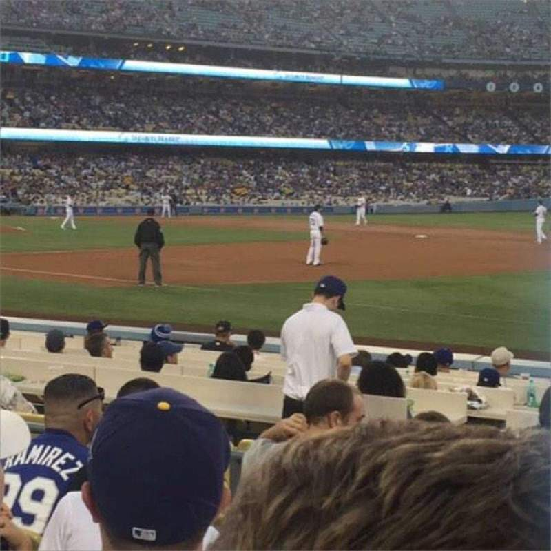 Seating view for Dodger Stadium Section 34FD Row F Seat 5