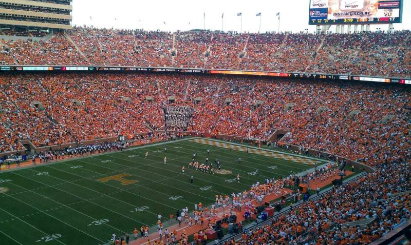 Seating view for Neyland Stadium Section xx2 Row 9 Seat 13