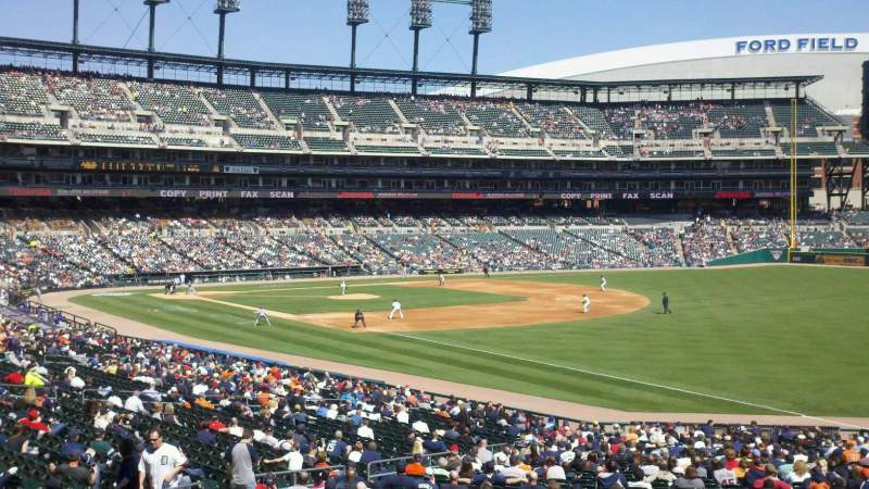 Seating view for Comerica Park Section 114 Row 43