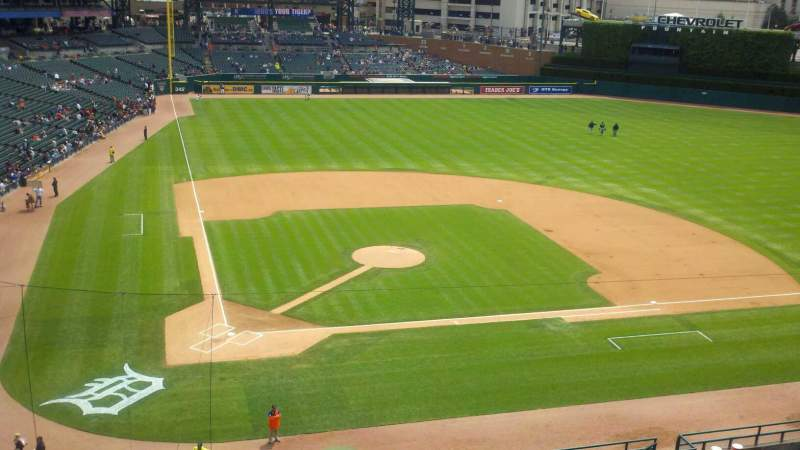 Seating view for Comerica Park Section 324 Row 1 Seat 9