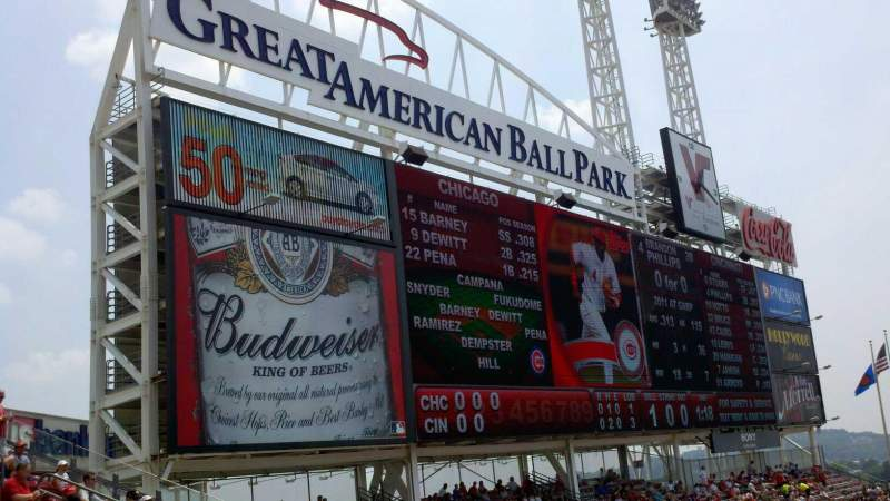Seating view for Great American Ball Park Section 410 Row H Seat 1