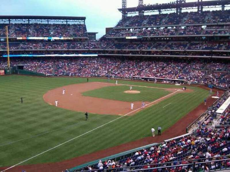 Seating view for Citizens Bank Park Section 234 Row 3 Seat 11