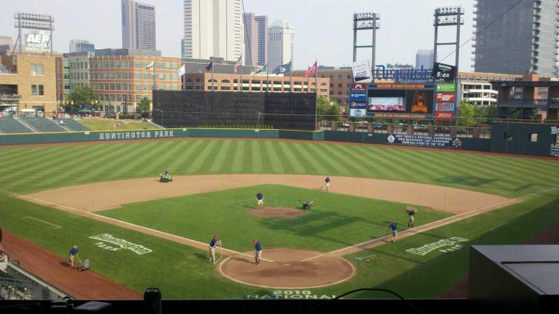 Seating view for Huntington Park