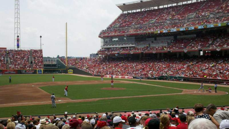Seating view for Great American Ball Park Section 115 Row BB Seat 10