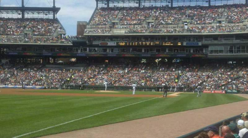 Seating view for Comerica Park Section 142 Row 7