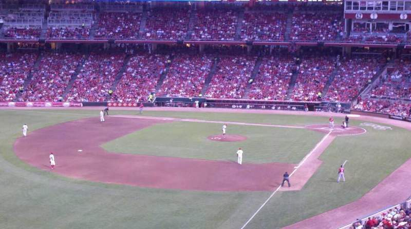 Seating view for Great American Ball Park Section 410 Row A Seat 1