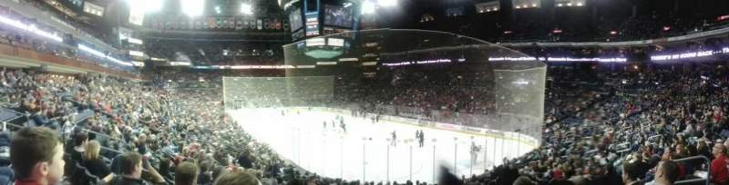Seating view for Nationwide Arena Section 111 Row S Seat 8