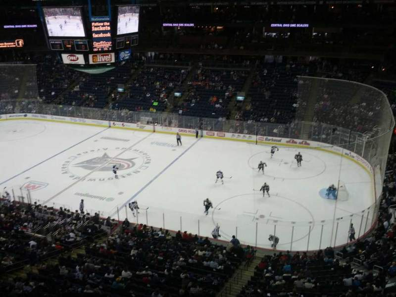 Seating view for Nationwide Arena Section 201 Row A Seat 11