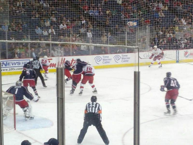 Seating view for Nationwide Arena Section 118 Row L Seat 1