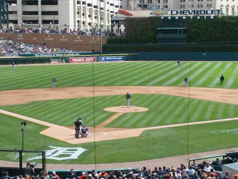 Seating view for Comerica Park Section 126 Row Q